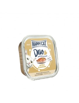 13 Pâtées Chat Happy Cat Boeuf Lapin 100g