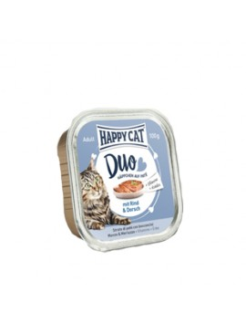 13 Pâtées Chat Happy Cat Boeuf Morue 100g