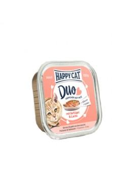 12 Pâtées Chat Happy Cat Volaille Saumon 100g