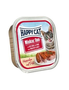13 Pâtées Chat Happy Cat Volaille Boeuf 100g