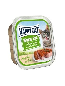 13 Pâtées Chat Happy Cat Volaille Agneau 100g