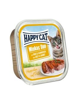 13 Pâtées Chat Happy Cat Boeuf Lapin 100g