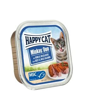 13 Pâtées Chat Happy Cat Boeuf Gibier 100g